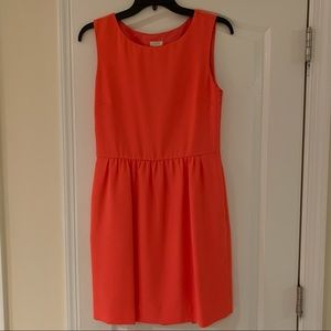 J.Crew Factory Neon Coral Shift Dress, size 4